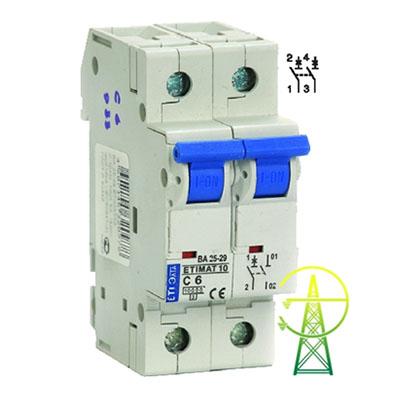 Выключатель автоматический 1-пол+n 20a c 4,5ка domovoy schneider electric